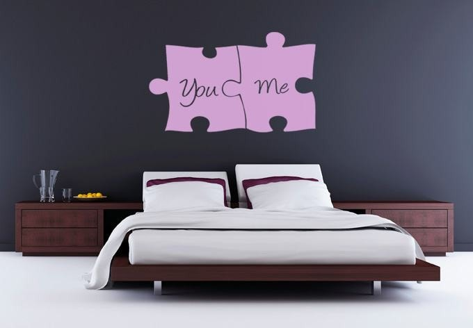 You and Me Jigsaw Wall Sticker - Wall Chick