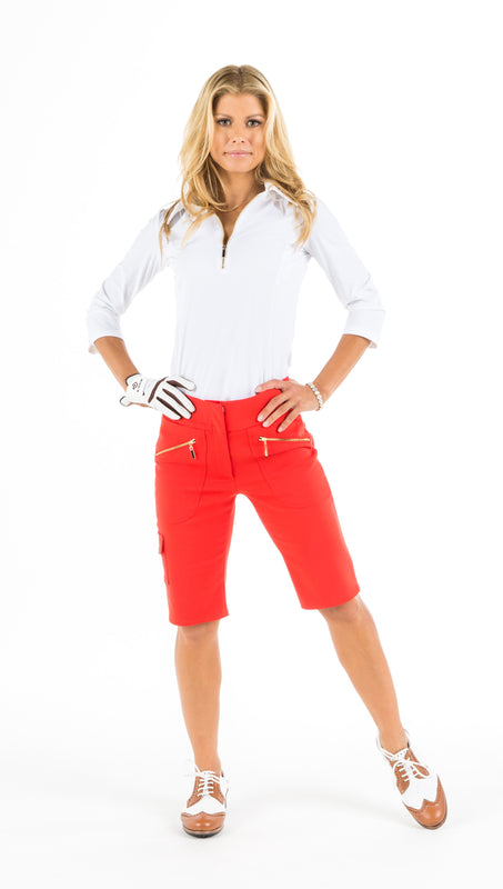 MONARCH BEACH PETITE BERMUDA SHORTS - Red, White, Black or Beige