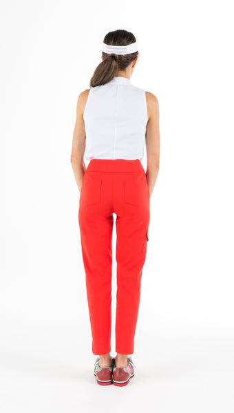MONARCH BEACH PETITE GOLF PANT - Red