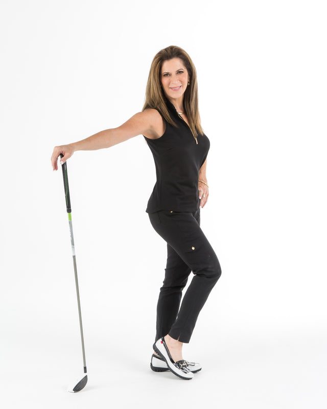 MONARCH BEACH PETITE GOLF PANT - Black