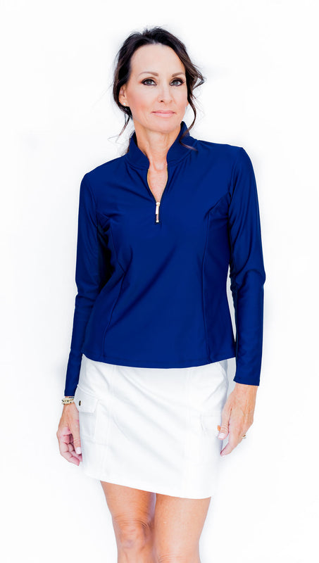 KATELYN LONG SLEEVED TOP - GALAXY - Spitfire Petite