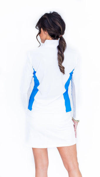 Katelyn Long Sleeved Top - White/Milos - Amy Sport