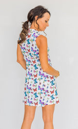 FRONTLINE 2.0 SLEEVELESS DRESS - MULTI BUTTERFLY - Spitfire Petite