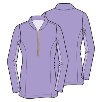 Katelyn Long Sleeved Top - Lilac - Spitfire Petite