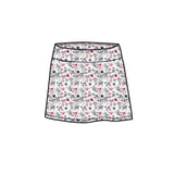 MARISSA PLEATED SKORT - Graffiti Grey - Spitfire Petite