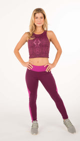 PERFORMANCE CROP TOP - Snake Print - Spitfire Petite