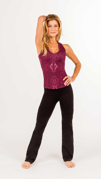 FINAL SALE -Amy Signature Racerback Tank With Bra - Snake Print - 1 LEFT M - Amy Sport