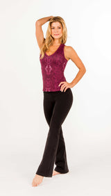 AMY SIGNATURE RACERBACK TANK WITH BRA - Snake Print