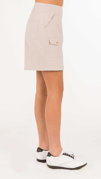 Laguna Beach Golf Skort - Beige - Amy Sport