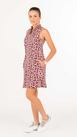 COURSE-TO-COCKTAILS SLEEVELESS PETITE SHIRTDRESS - Leopard Print - 1 LEFT in XL-P
