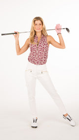 COURSE-TO-COCKTAILS SLEEVELESS PETITE TOP - Leopard Print