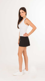 GRAND SLAM PLEAT-BACK SKIRT - Black