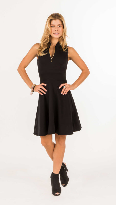 FIT & FLARE GOLF DRESS - ALL Black