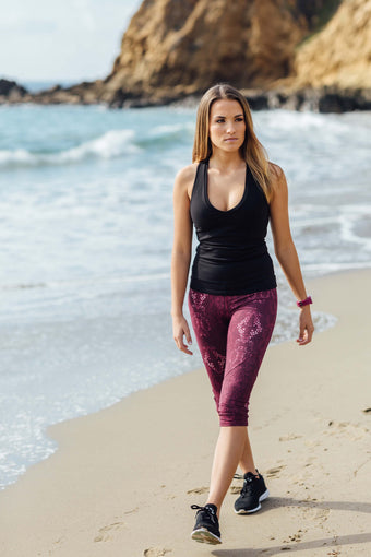 CORE PERFORMANCE CROPPED LEGGING - Snake Print - Spitfire Petite