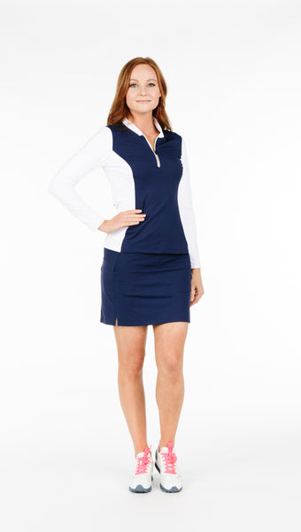 FINAL SALE - Carol Skort - Navy - 1 LEFT XL - Amy Sport