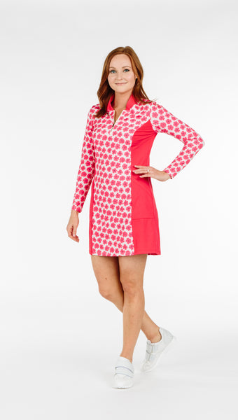 Katelyn Dress - Coral Daisy Combo - Amy Sport