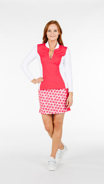 FINAL SALE - Carol Skort - Coral Daisy Combo - 5 LEFT - Amy Sport