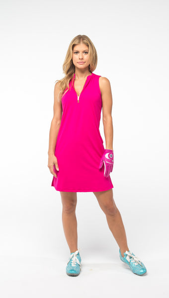 COURSE-TO-COCKTAILS SLEEVELESS PETITE SHIRTDRESS - Pink