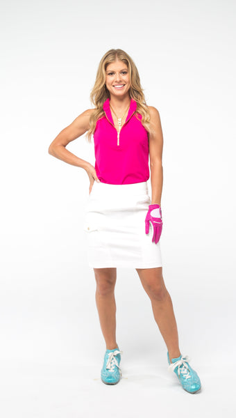 COURSE-TO-COCKTAILS SLEEVELESS PETITE TOP - Pink