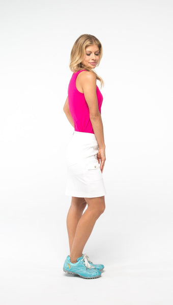 COURSE-TO-COCKTAILS SLEEVELESS PETITE TOP - Pink - Spitfire Petite