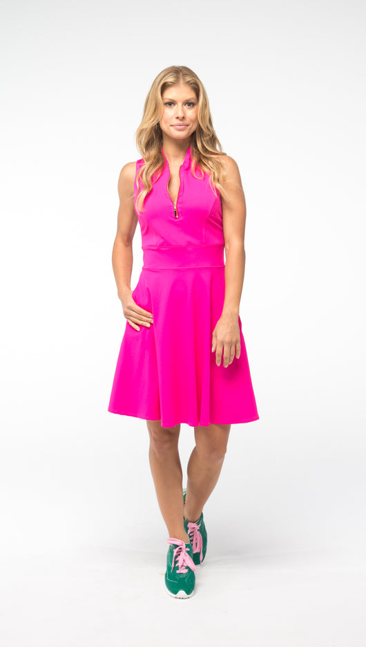 Fit & Flare Play For P.I.N.K Golf Dress - Pink - Spitfire Petite
