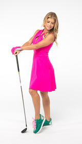Fit & Flare Play For P.I.N.K Golf Dress - Pink - Amy Sport