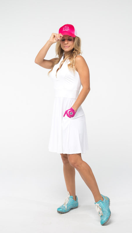 FIT & FLARE GOLF DRESS - White - 1 LEFT IN XL - Spitfire Petite