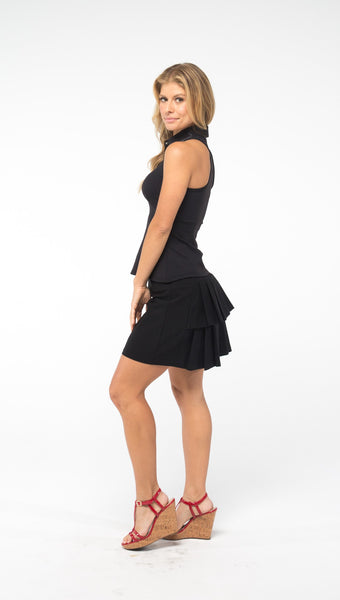 PLEAT-BACK GOLF SKORT - with Built-in Short