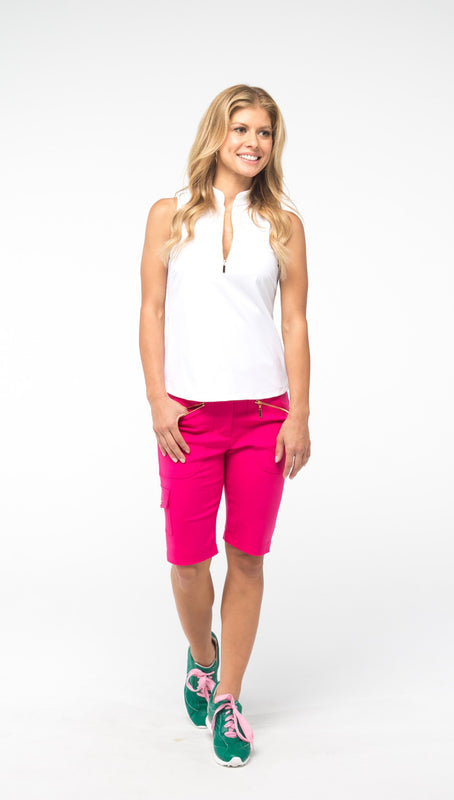 COURSE-TO-COCKTAILS SLEEVELESS PETITE TOP - White