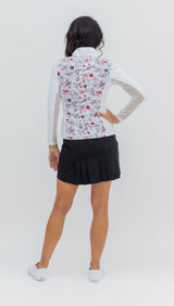 Katelyn Long Sleeved Top - Graffiti Grey/White Combo - Amy Sport