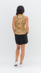 FRONTLINE SLEEVELESS TOP - GOLD SNAKE - Spitfire Petite