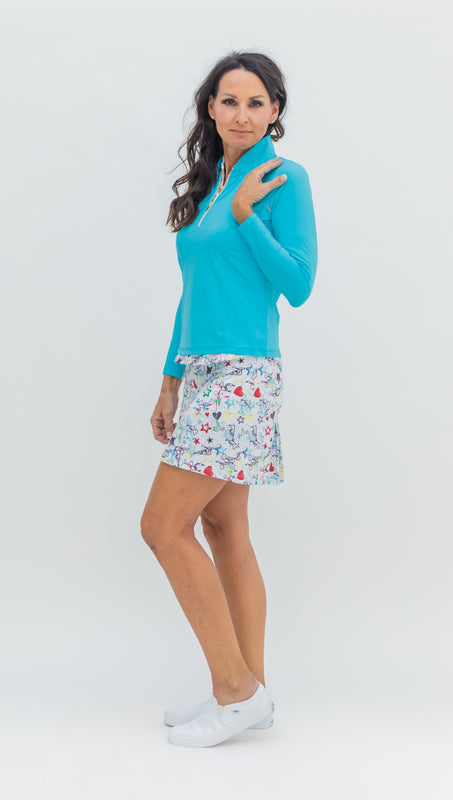 KATELYN TOP - TURQUOISE - Spitfire Petite