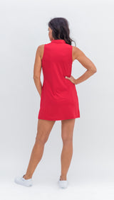 Final Sale- Frontline Gold Zip Sleeveless Dress - Tutti Fruiti - 5 Left - Amy Sport