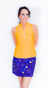 Frontline 2.0 Sleeveless Top - Saffron - Amy Sport