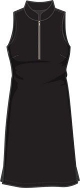 COURSE-TO-COCKTAILS SLEEVELESS PETITE SHIRTDRESS - Black