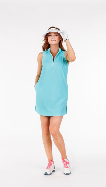 FINAL SALE - COURSE-TO-COCKTAILS SLEEVELESS SHIRTDRESS - BabyBoy - 4 LEFT - Spitfire Petite