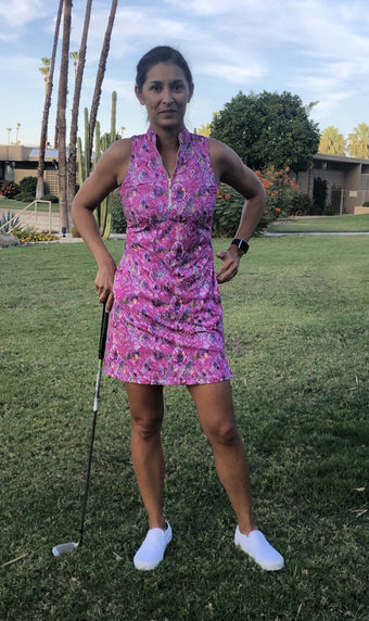 COURSE-TO-COCKTAILS SLEEVELESS SHIRTDRESS - Pink Snake - Spitfire Petite