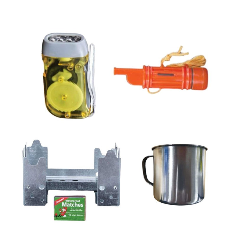 64 Piece Survival Kit w/Food & Water Accessories