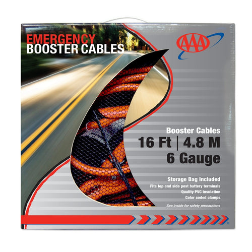 AAA 16 Foot 6 Gauge Booster Cables Box