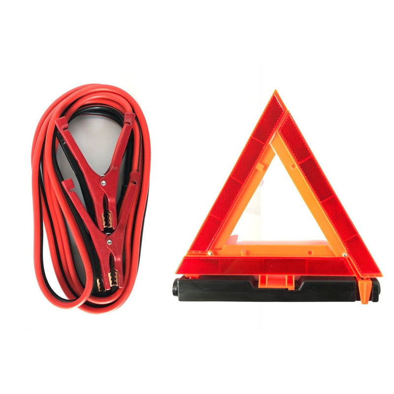 AAA Excursion Roadside Emergency Kit Jumper Cables and Emergency Triangle