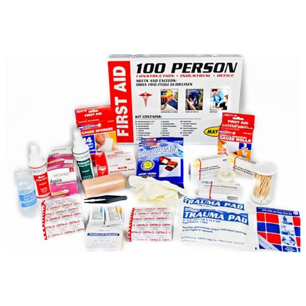 100 Person First Aid Cabinet Contents