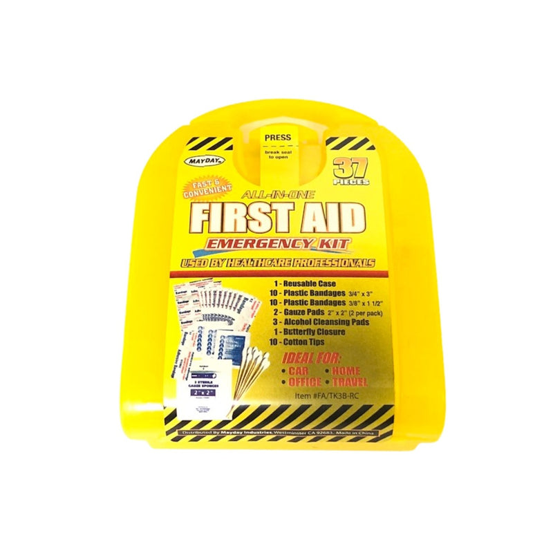 37 piece first aid emergency kit