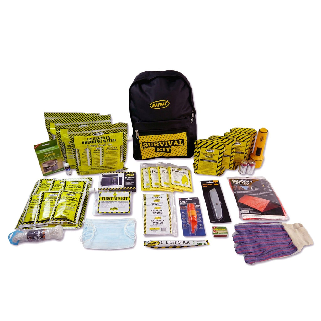 Deluxe 4 Person Survival Backpack + Contents