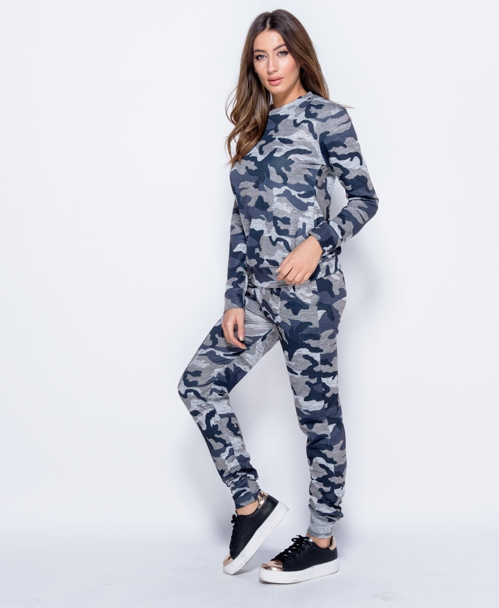 7d1d8f3377 Ladies Camouflage Co Ord Loungewear Set Top   Bottoms by Parisian ...
