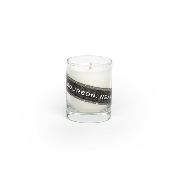 Bourbon, Neat Candle (3 oz. shot glass votive)