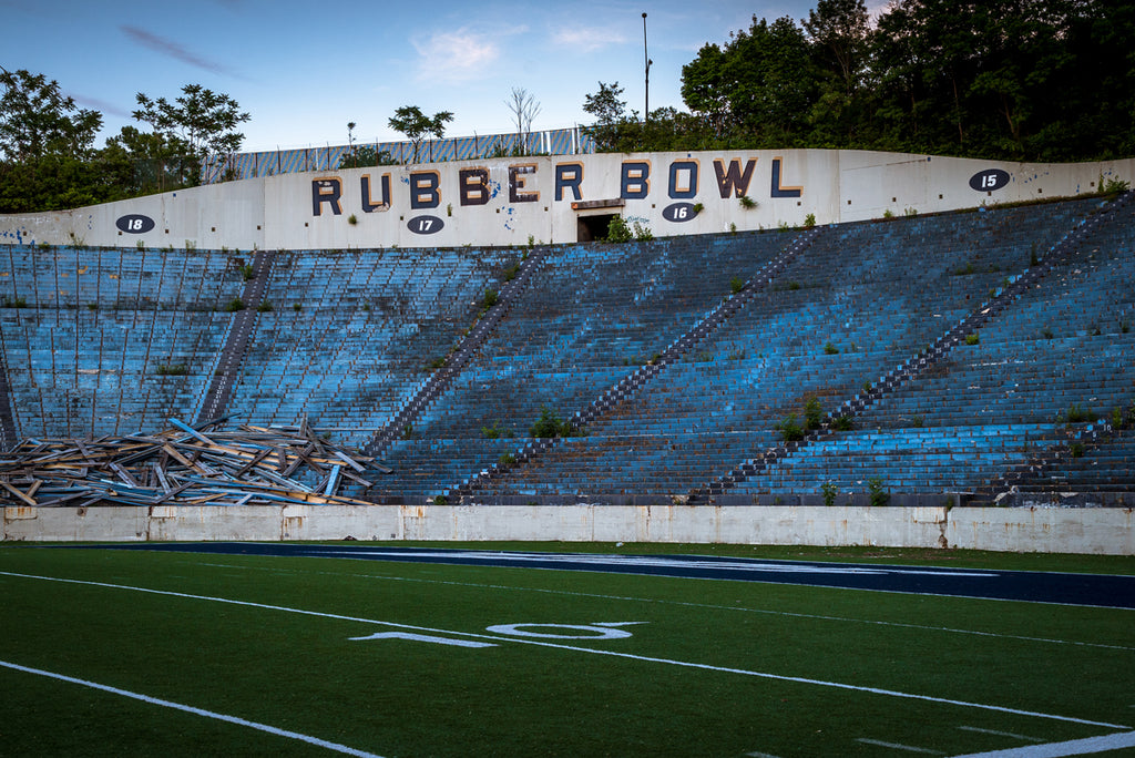 The Abandoned Akron Rubber Bowl Comes Down