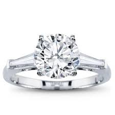 Round Brilliant Cut Diamond Solitaire 1 50 Carat Platinum Engagement Morgan Jonathan