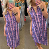 Purple Snake Skin Dress