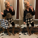 Mix Print Tunic Pullover