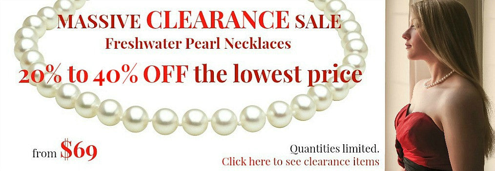 Freshwater Pearl Necklace Clearance Sale